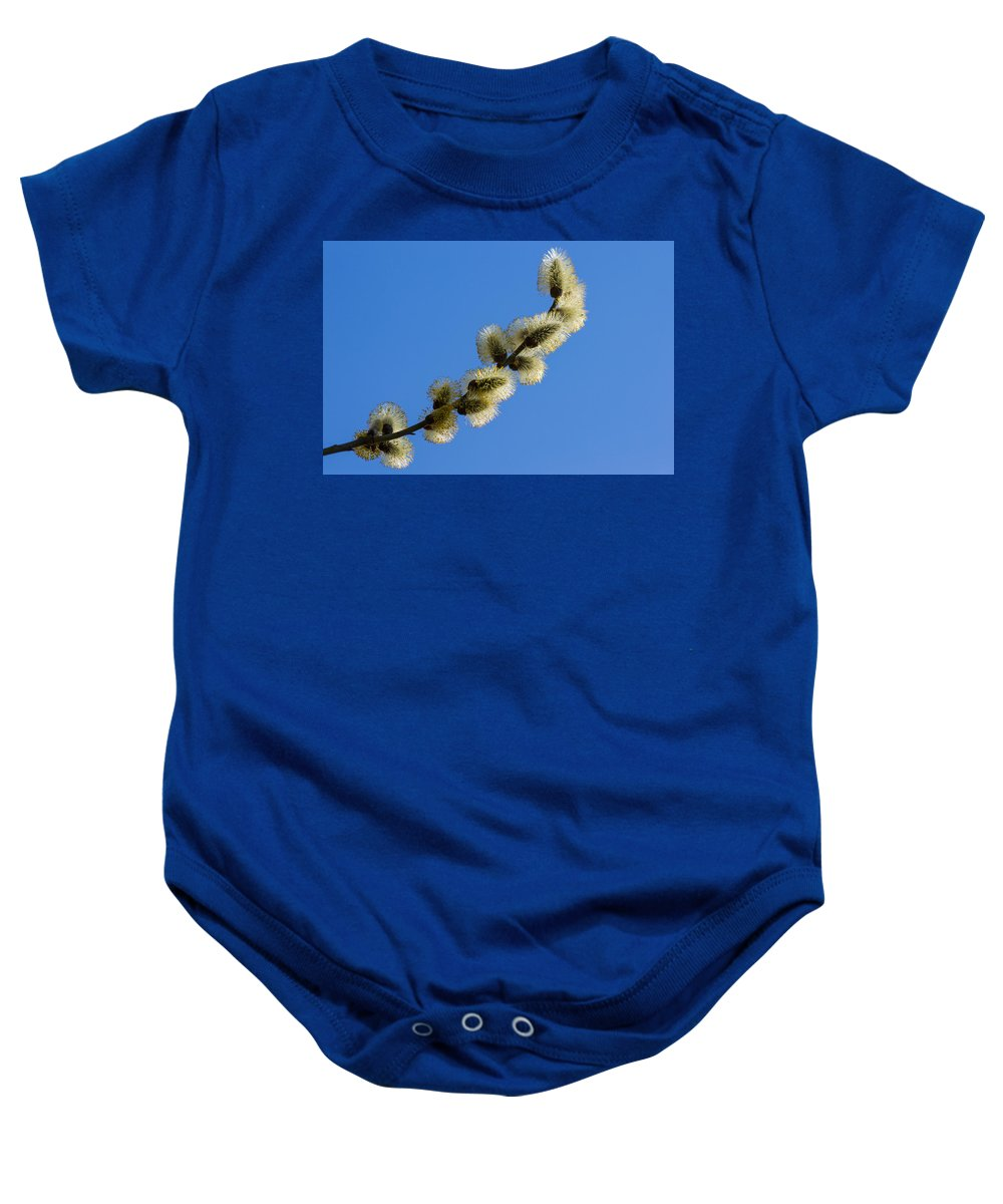 Abstract Baby Onesie featuring the photograph Fluffy Spring - 3 - Featured 3 by Alexander Senin