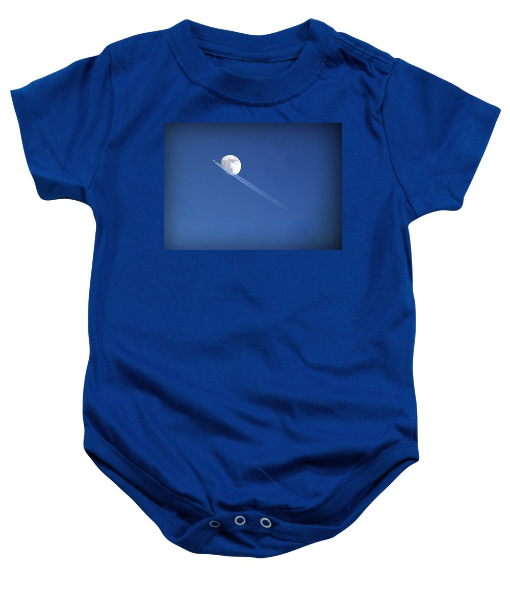 Moon Baby Onesie featuring the photograph Fly Me To The Moon by Cricket Hackmann