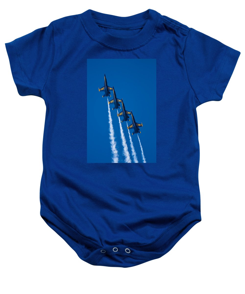 3scape Photos Baby Onesie featuring the photograph Flying High by Adam Romanowicz