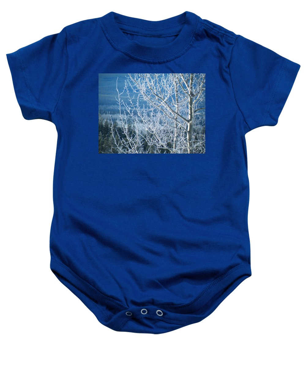 Foreground Baby Onesie featuring the photograph Foreground Frost by Brian Boyle