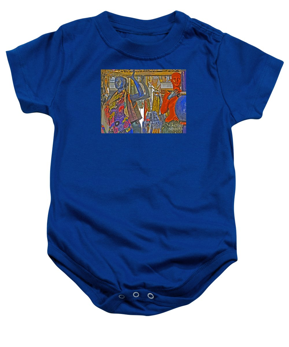 Fashion Baby Onesie featuring the photograph Funky Boutique by Ann Horn