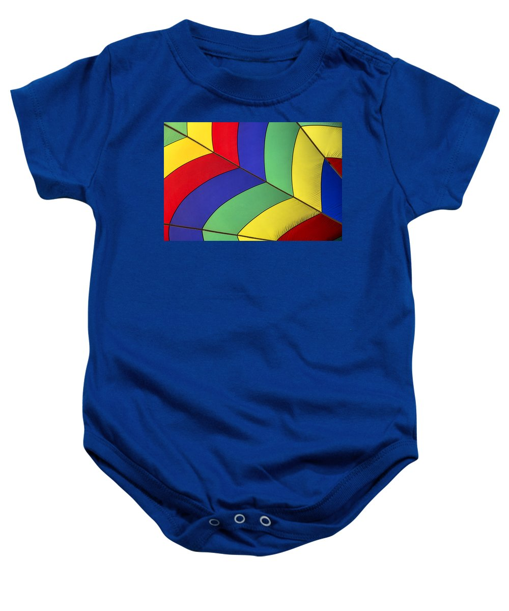 Hot Air Balloon Baby Onesie featuring the photograph Graphic Hot Air Balloon Detail by Garry Gay