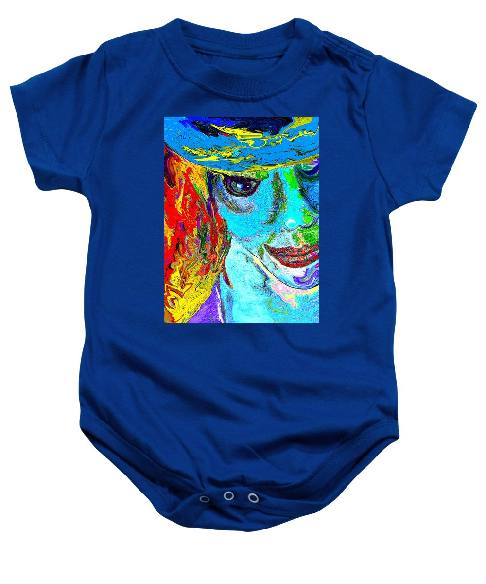 Digital Art Baby Onesie featuring the digital art Gypsy by Donna Blackhall