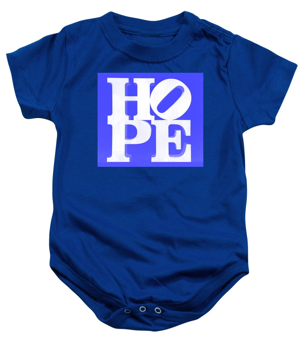 Hope Baby Onesie featuring the photograph Hope Inverted Blue by Rob Hans