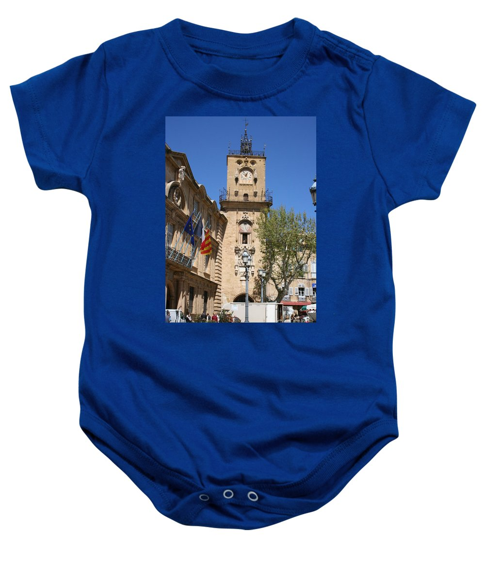 City Hall Baby Onesie featuring the photograph Hotel De Ville - Aix En Provence by Christiane Schulze Art And Photography