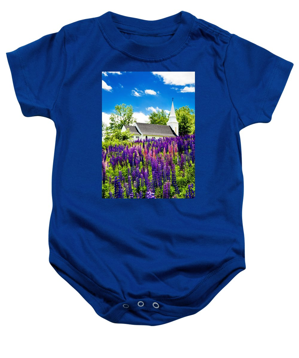 Crawford Notch Baby Onesie featuring the photograph Illumination by Greg Fortier