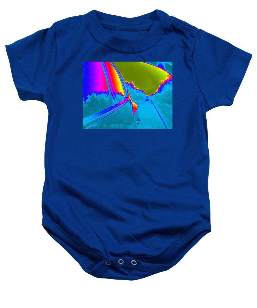 Neon Art Baby Onesie featuring the photograph Imaginary Road Trip by Amy Hosp