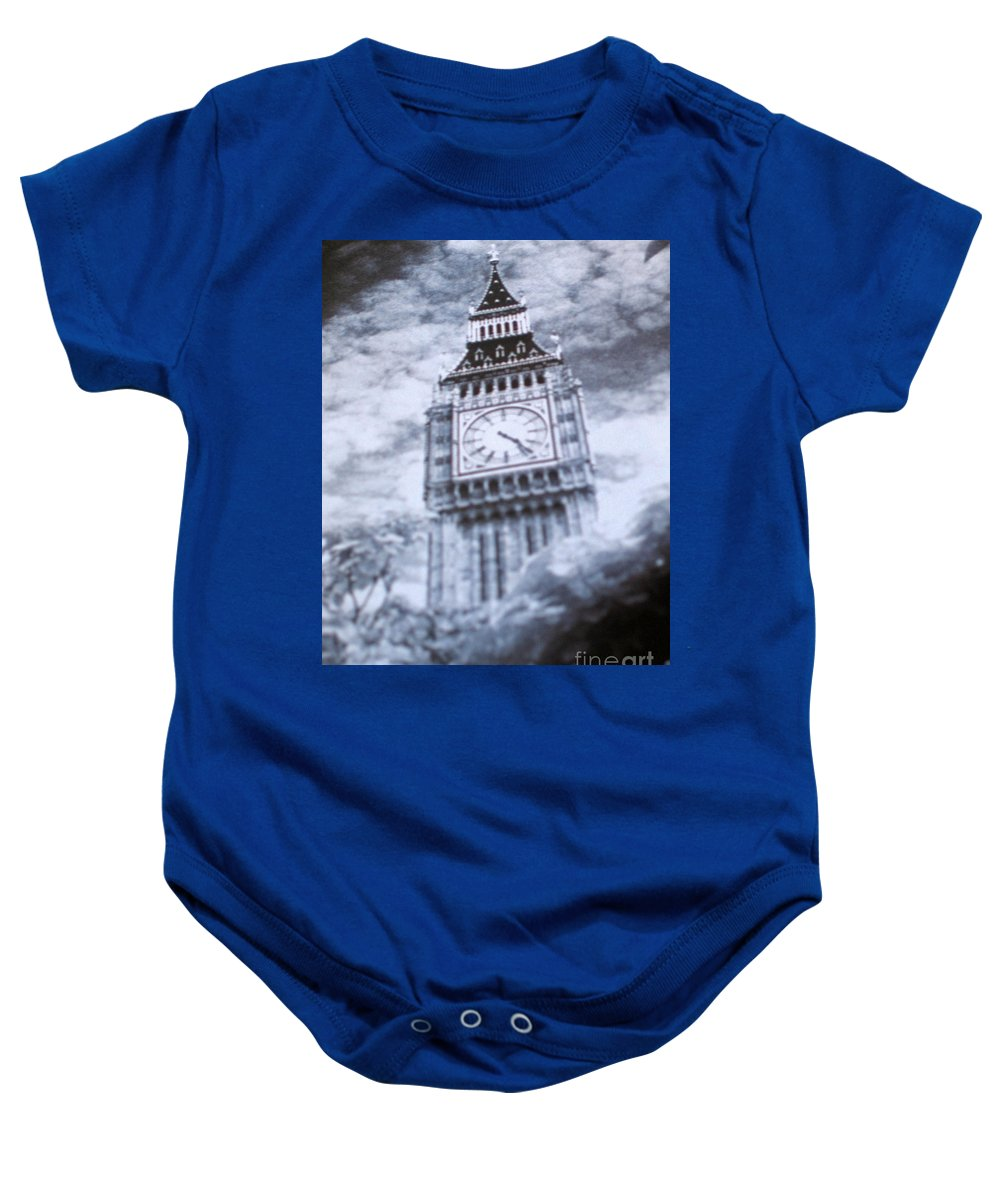 Travel Baby Onesie featuring the photograph In The Clouds by Jay Milo