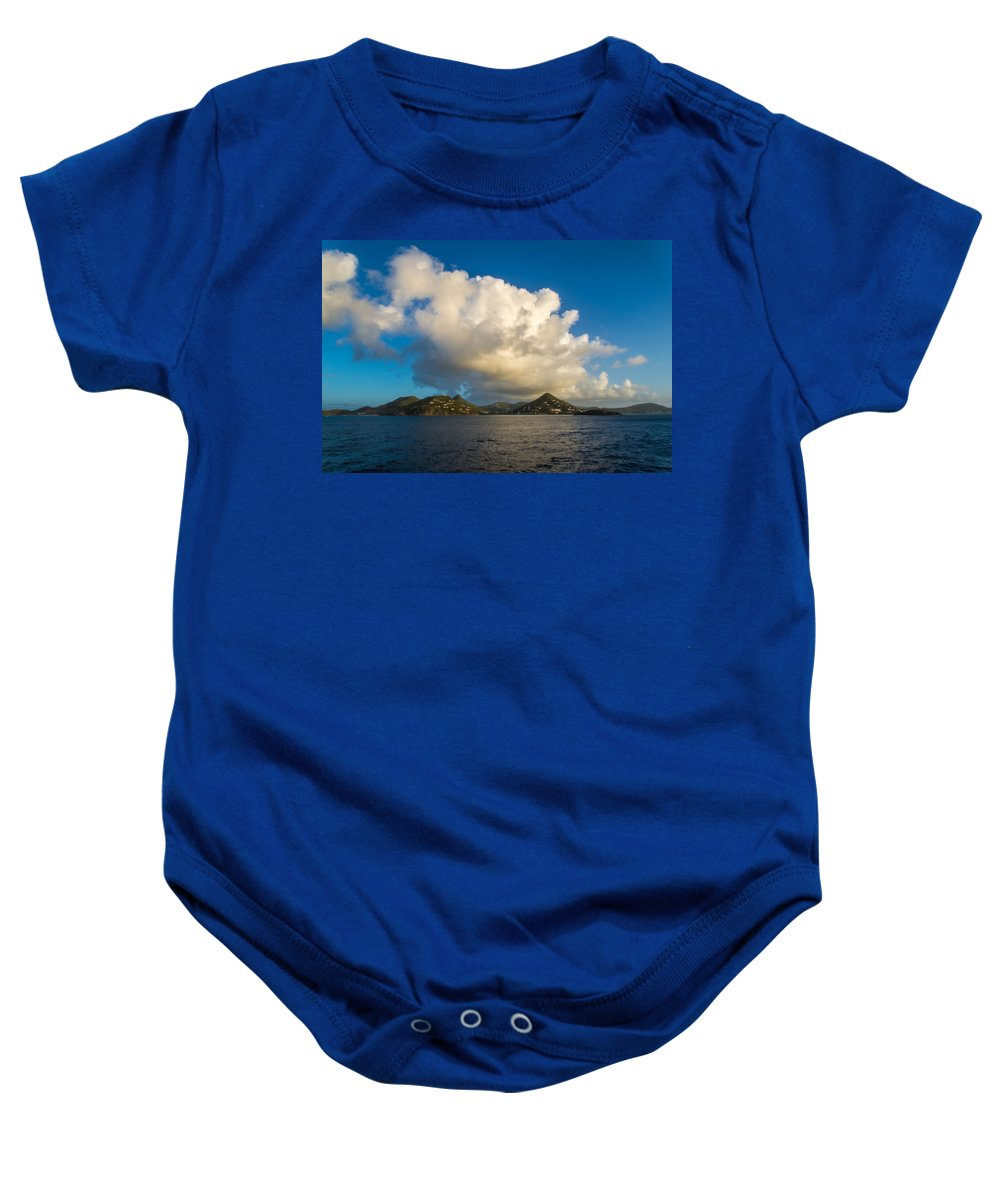 St. Maarten Baby Onesie featuring the photograph Islands by Kristopher Schoenleber