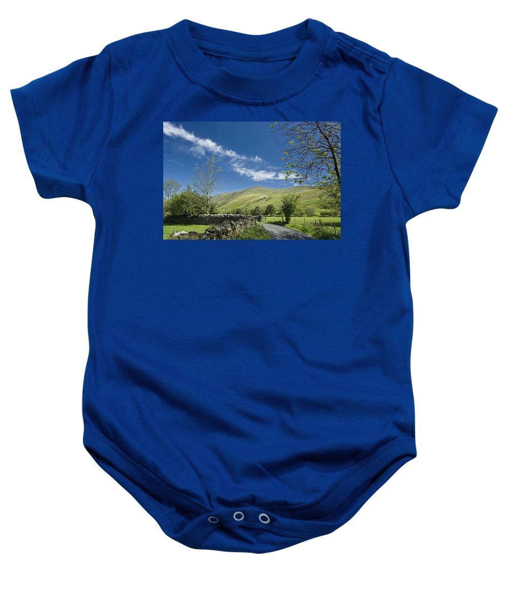 Lake District Baby Onesie featuring the photograph Lakeland Scene by Peter Lloyd