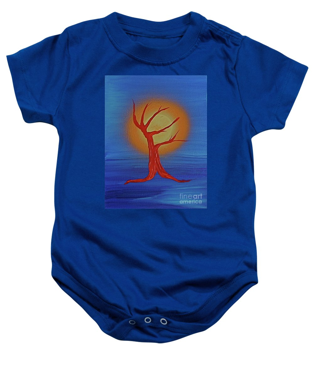 Tree Baby Onesie featuring the painting Life Blood By Jrr by First Star Art