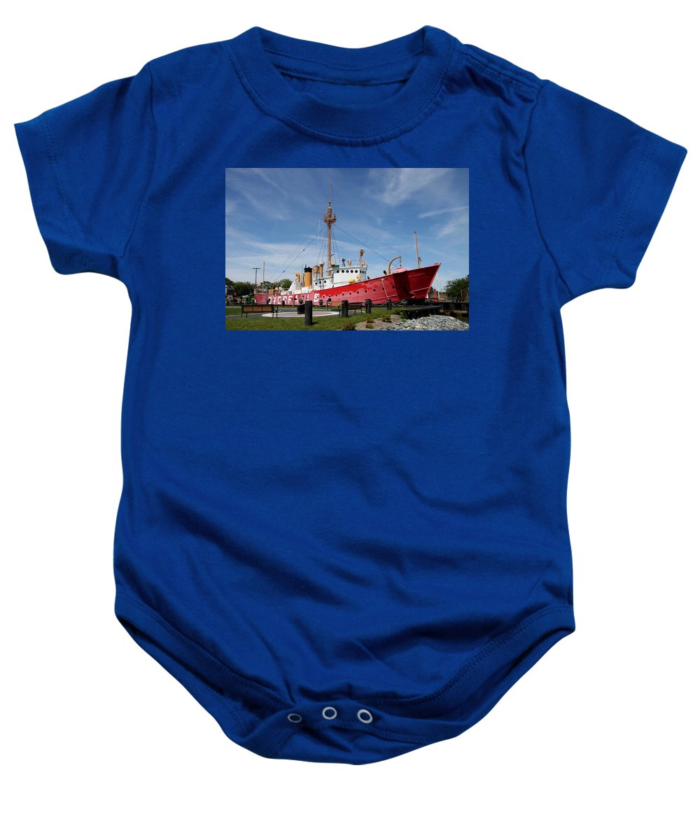 Lightvessel Baby Onesie featuring the photograph Lightvessel Overfalls by Christiane Schulze Art And Photography