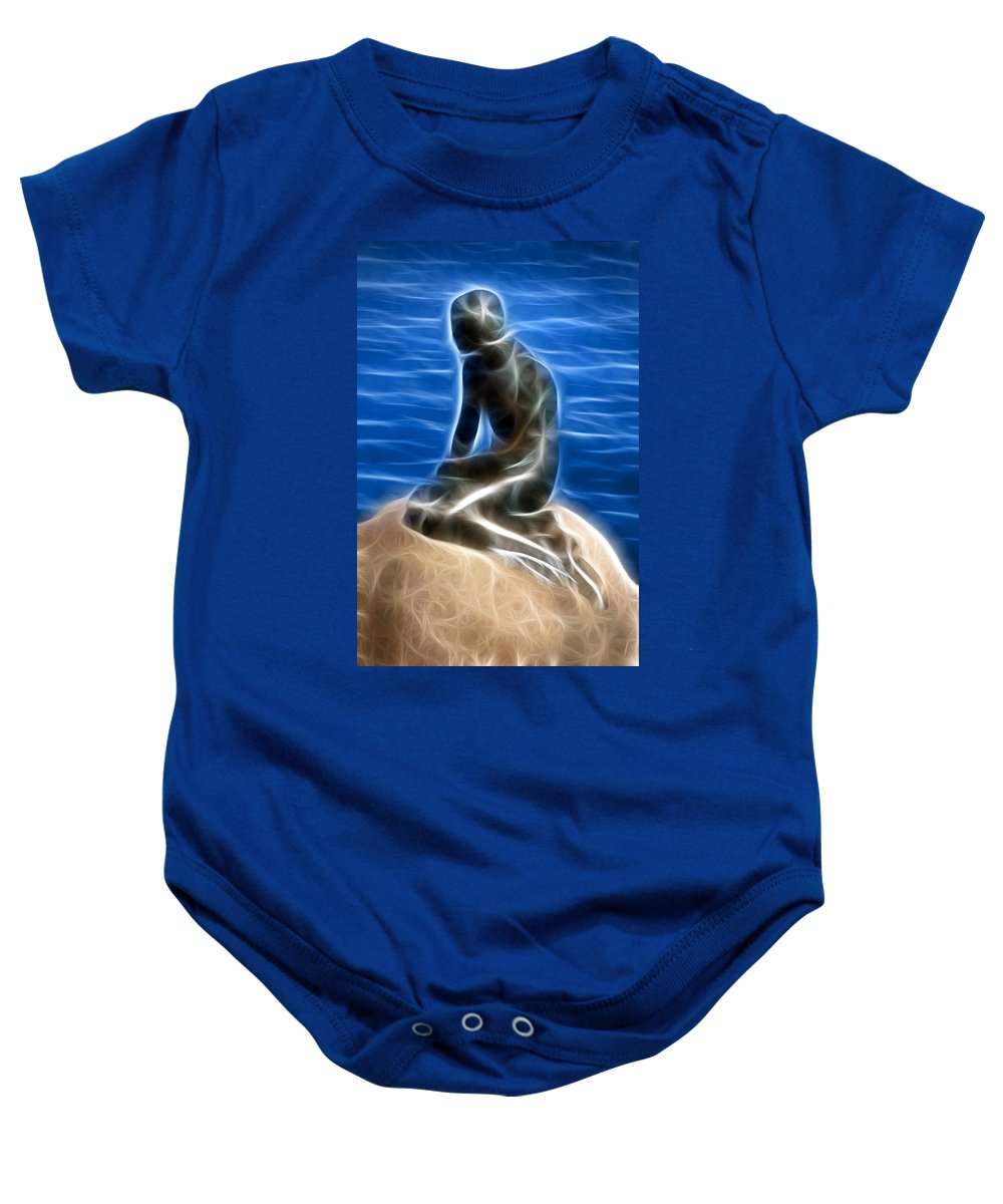Little Baby Onesie featuring the photograph Little Mermaid - Twist In The Tail by Ross G Strachan