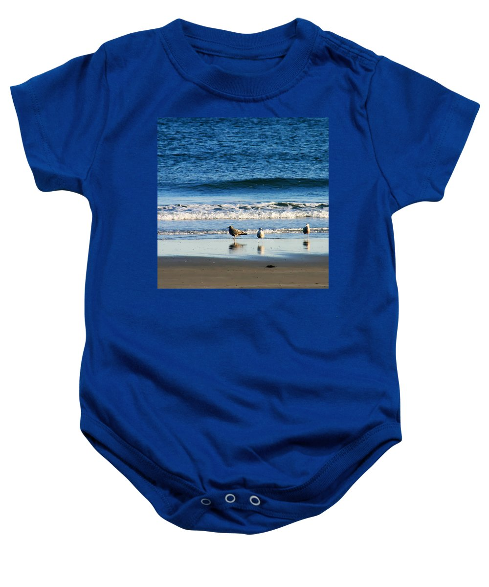 Living On The Edge Baby Onesie featuring the photograph Living On The Edge by Denyse Duhaime