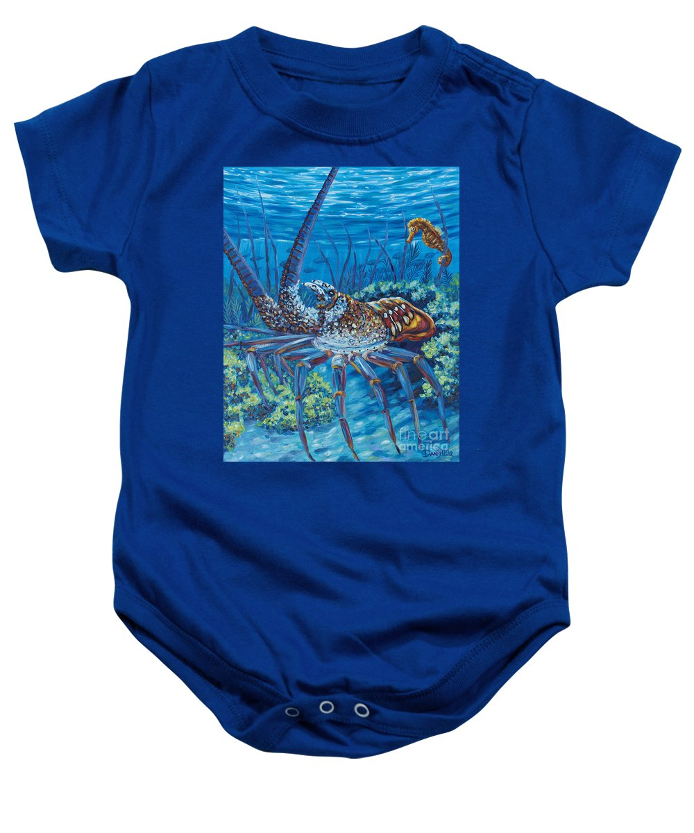 Lobster Baby Onesie featuring the painting Lobster Season by Danielle Perry