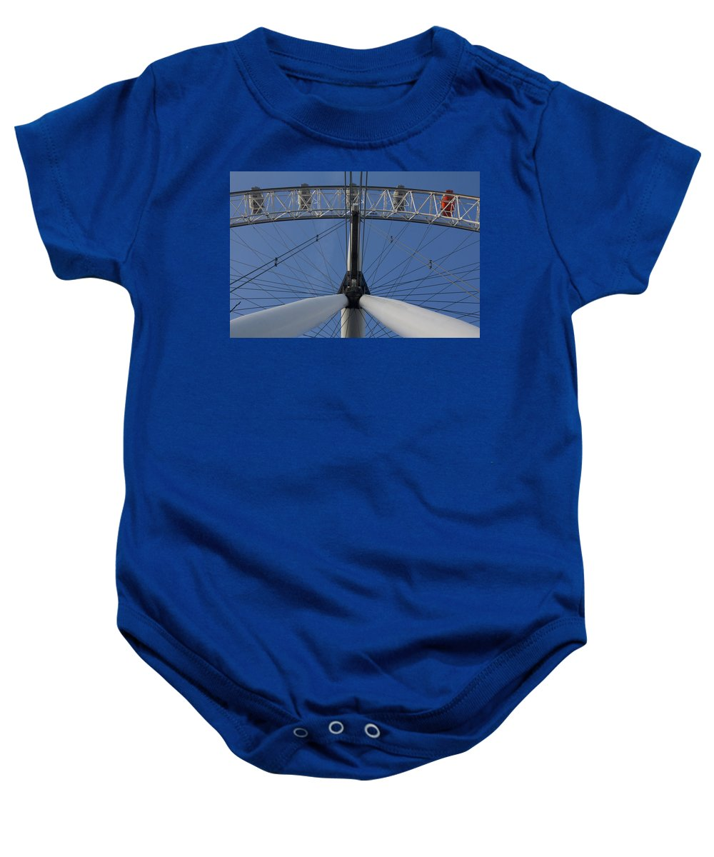 December Baby Onesie featuring the photograph London Eye by Leah Palmer