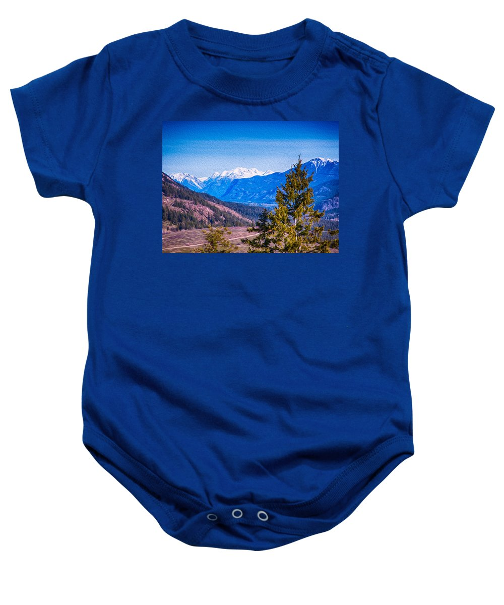 4x3 Baby Onesie featuring the photograph Looking To Mazama From Sun Mountain by Omaste Witkowski