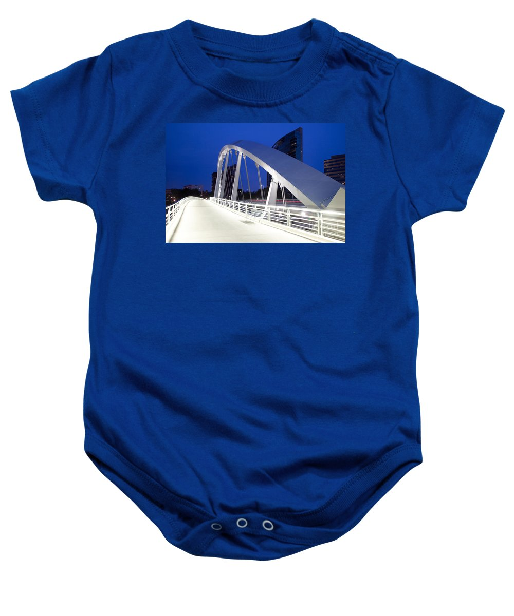Columbus Baby Onesie featuring the photograph Main Street Bridge by Bill Cobb