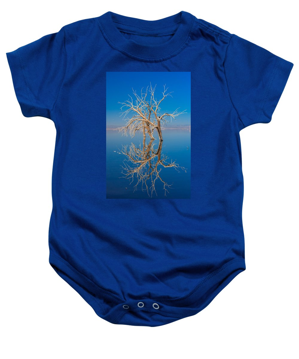 Salton Sea Baby Onesie featuring the photograph Mirror Mirror by Scott Campbell
