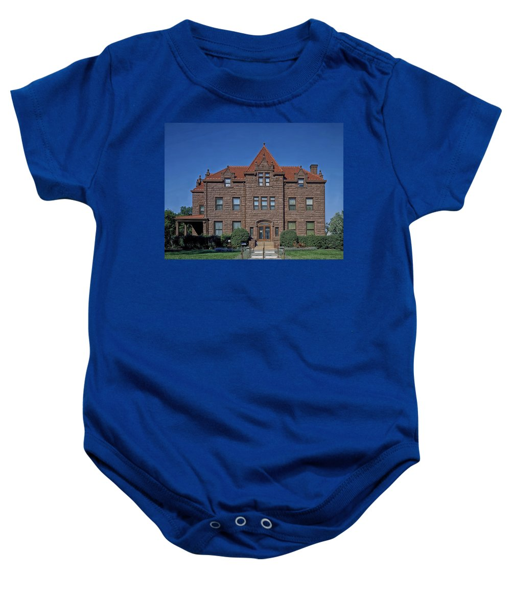 Billings Baby Onesie featuring the photograph Moss Mansion - Billings Montana by Mountain Dreams