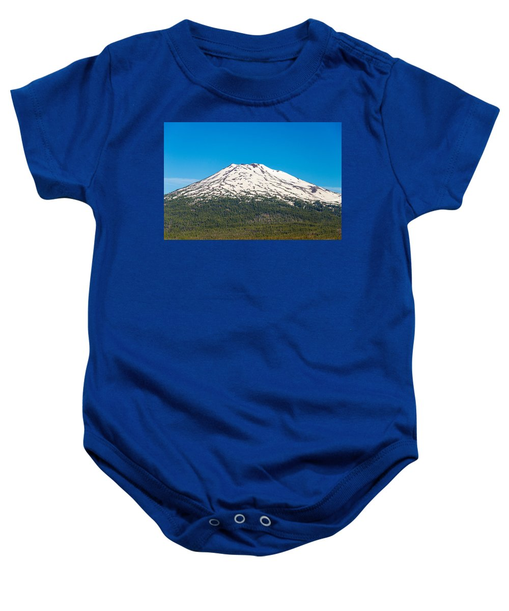 Mountain Baby Onesie featuring the photograph Mount Bachelor Closeup by Jess Kraft
