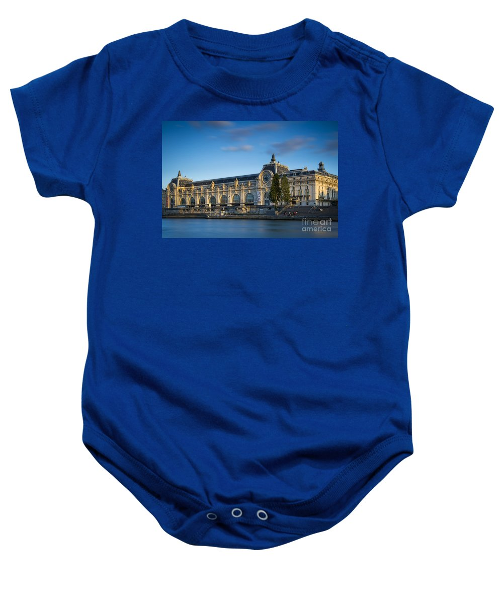 Architecture Baby Onesie featuring the photograph Musee D'orsay Evening by Brian Jannsen