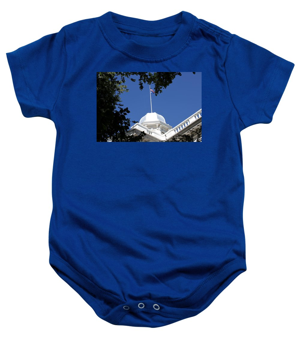 Nevada Baby Onesie featuring the photograph Nevada State Capitol by Donna Jackson