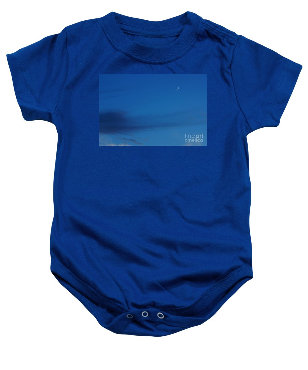 Moon Baby Onesie featuring the photograph New Moon by Jeffery L Bowers