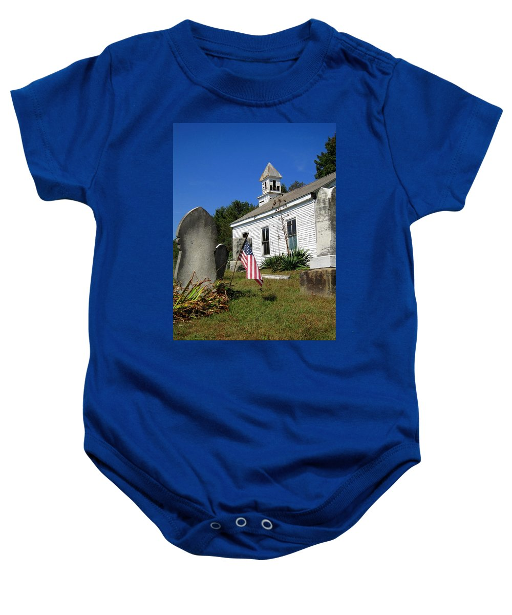 Church Baby Onesie featuring the photograph Not Forgotten by Nelson Strong