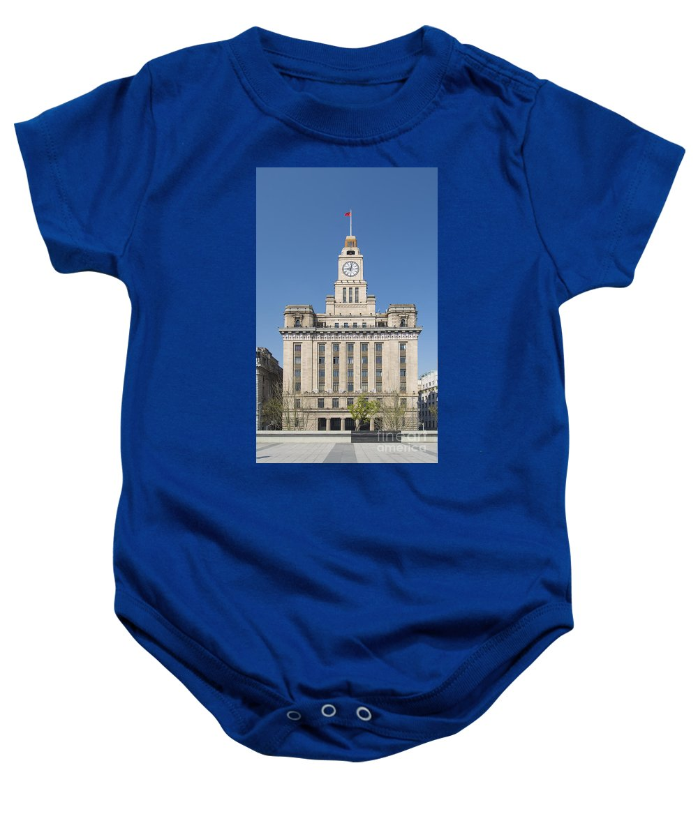 Architecture Baby Onesie featuring the photograph Old European Building On The Bund In Shanghai China by Jacek Malipan