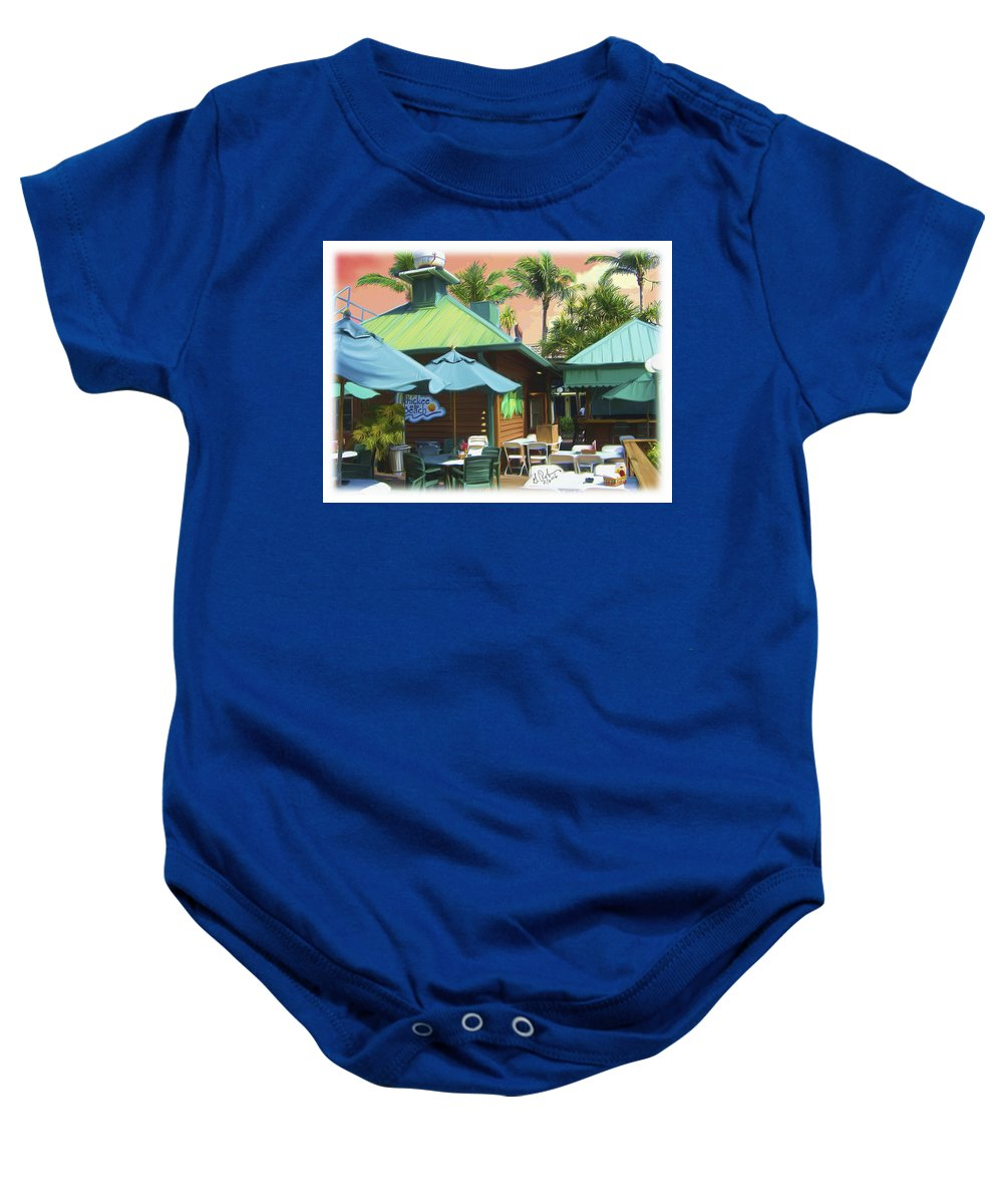 Hotel Baby Onesie featuring the painting Old Vanderbilt Inn by Gerry Robins