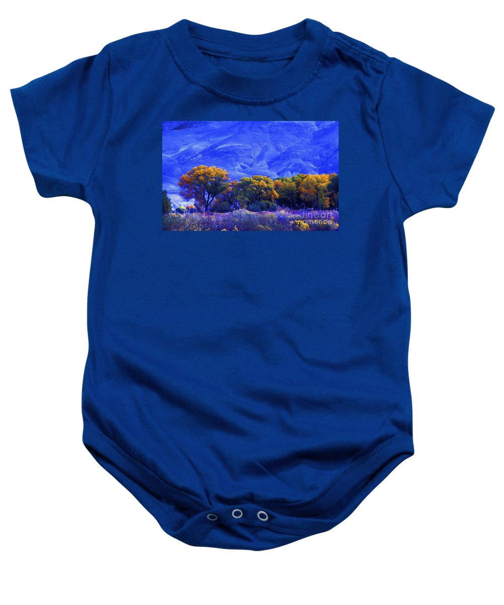Fall Colors Baby Onesie featuring the photograph Owens Valley Fall Colors by Paul W Faust - Impressions of Light