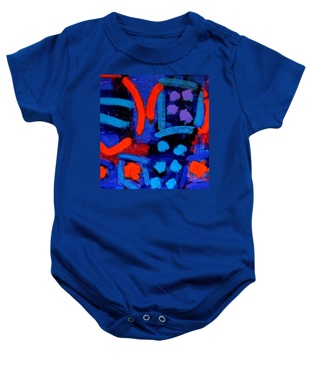 Irish Art Baby Onesie featuring the painting Palimpsest 006 by John Nolan