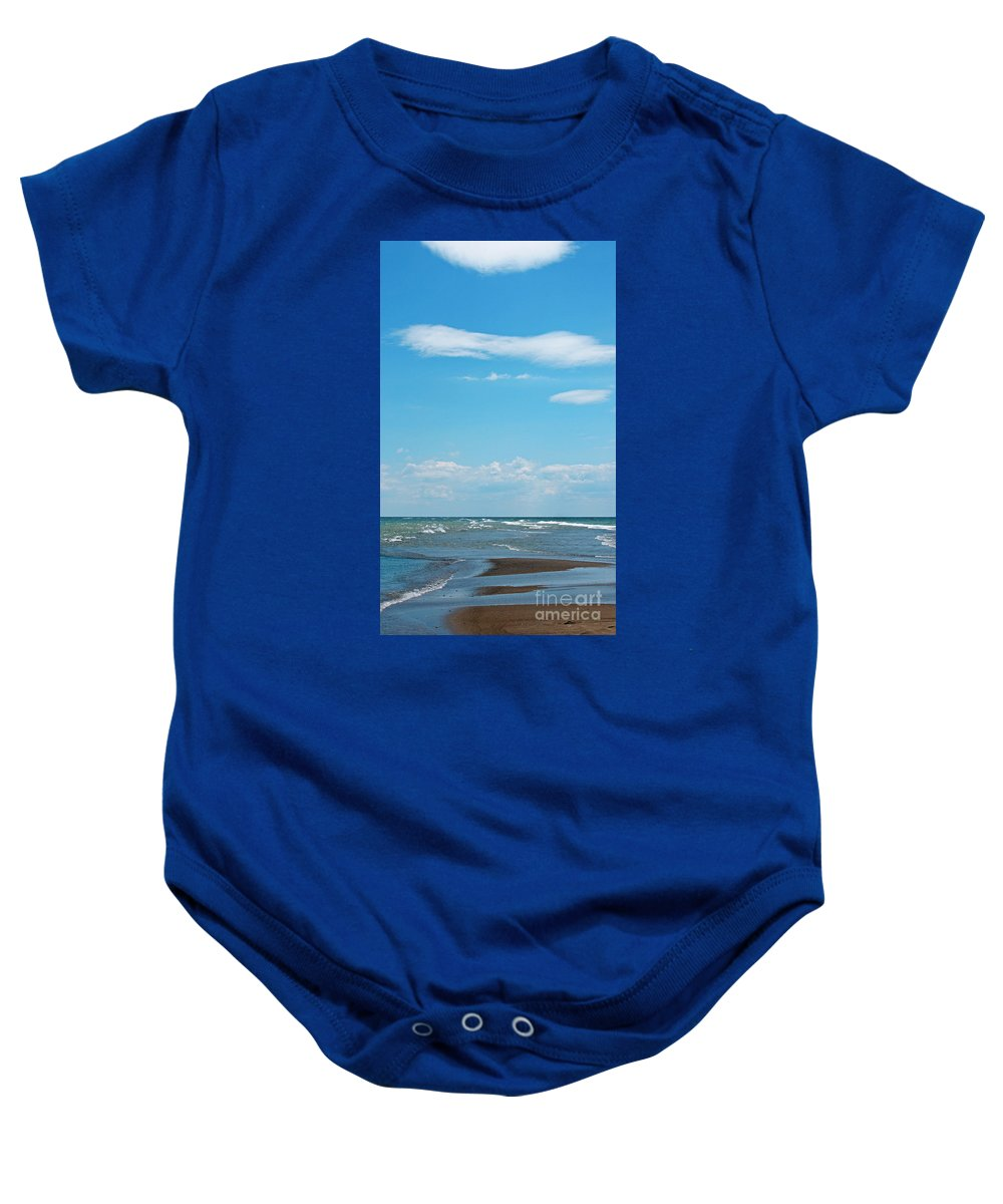 Canada Baby Onesie featuring the photograph Pelee by Ann Horn