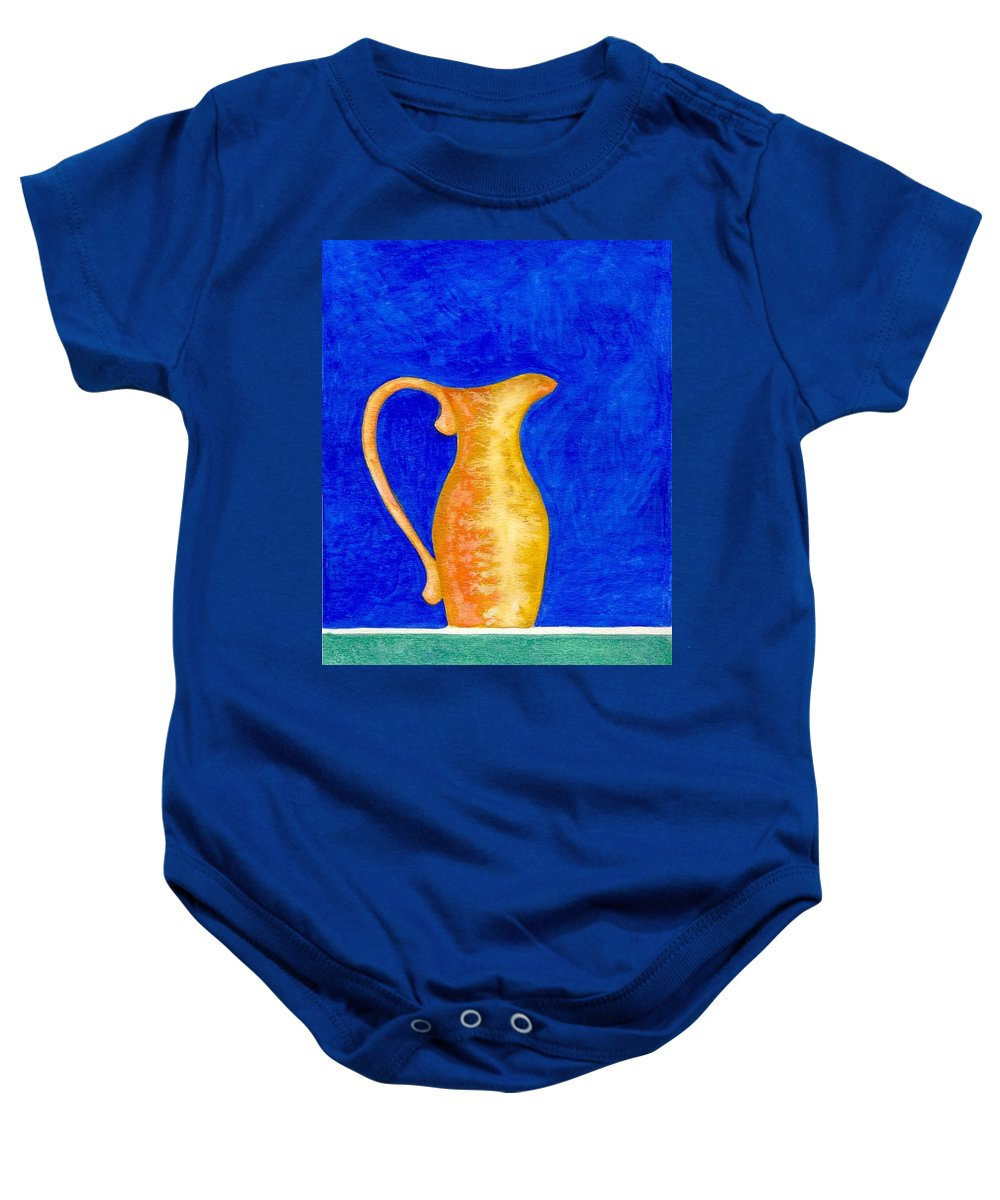 Still Life Baby Onesie featuring the painting Pitcher 2 by Micah Guenther