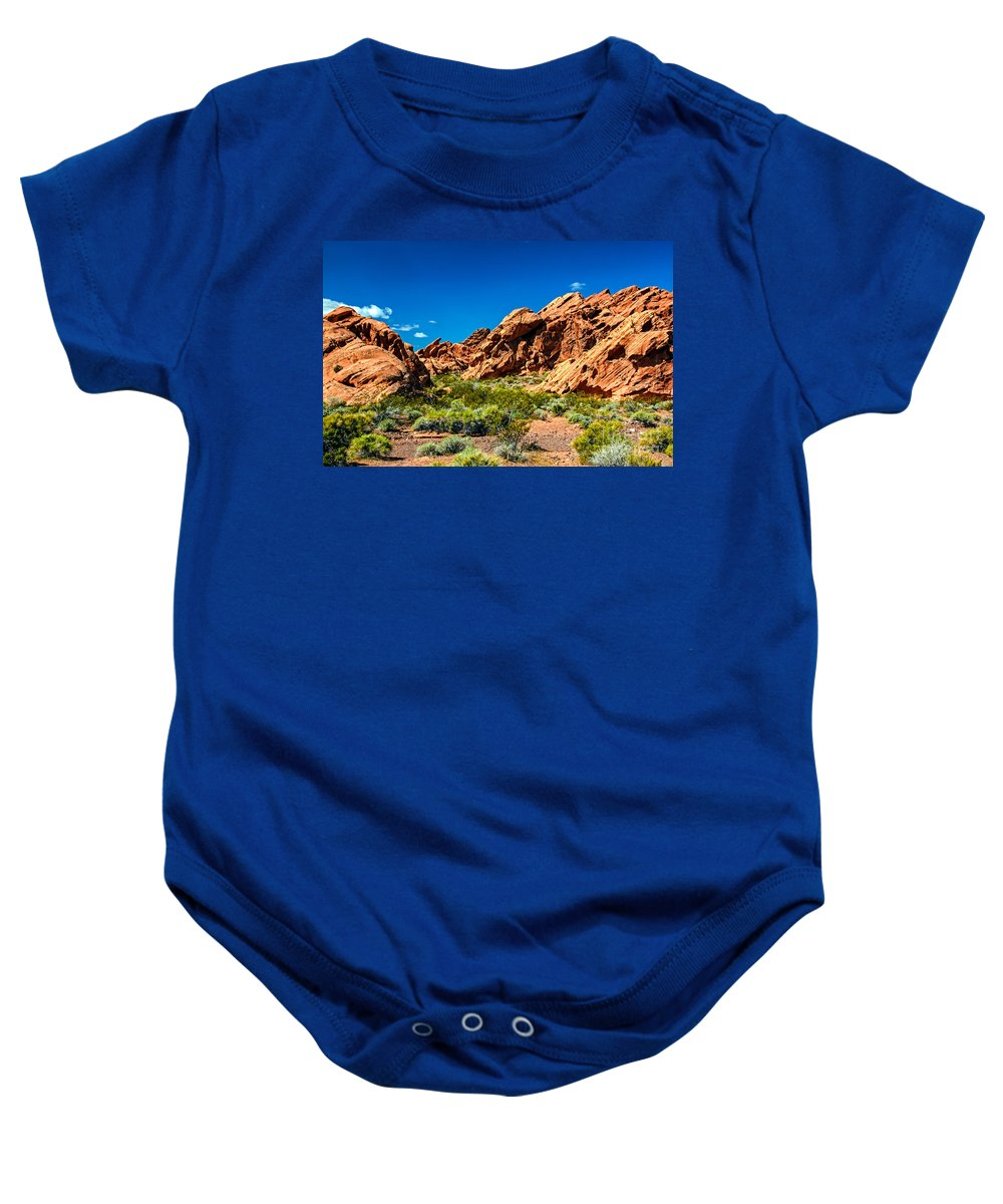 Redstone Picnic Area Baby Onesie featuring the photograph Redstone Picnic Area by Robert Bales