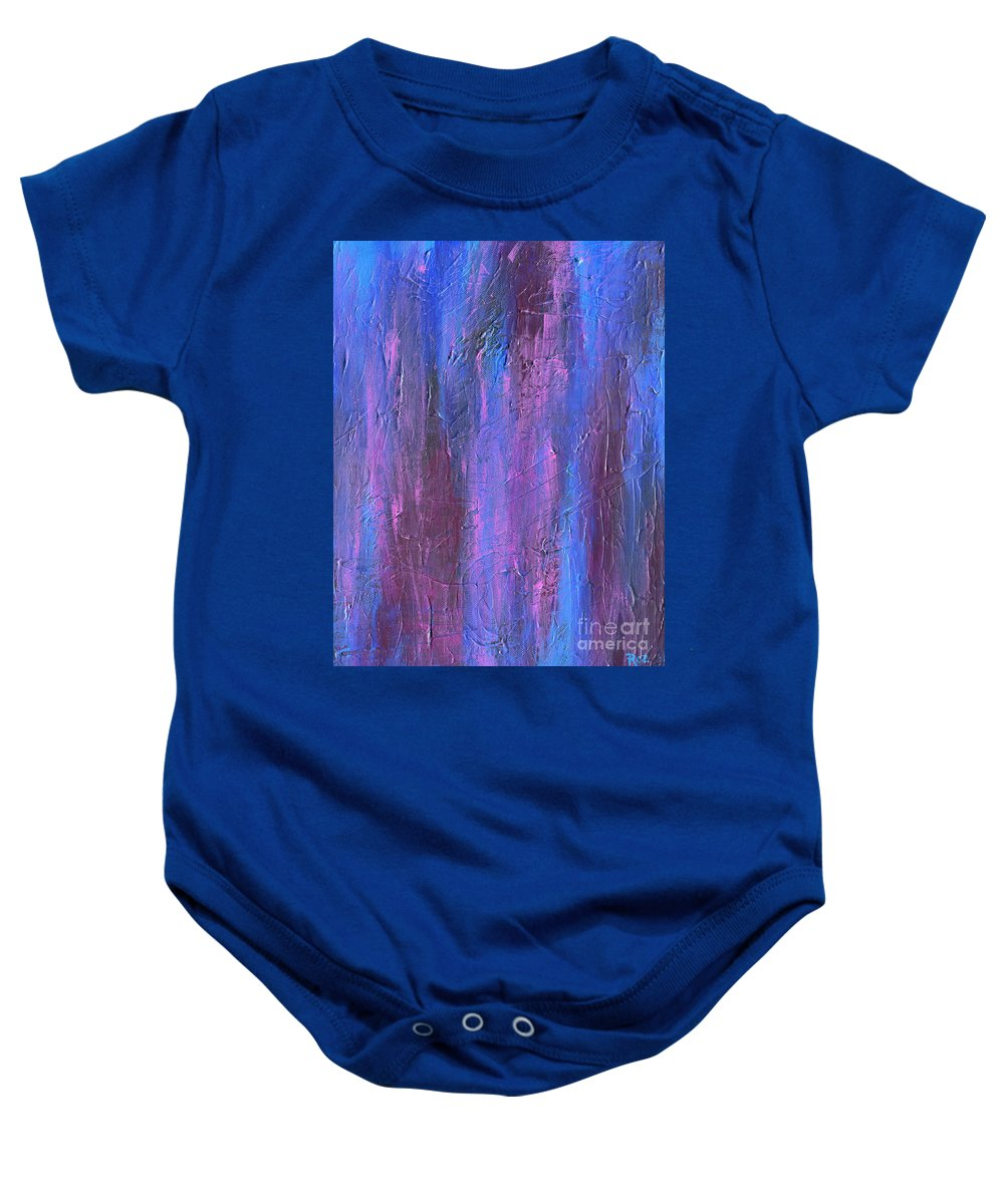 Reflections Baby Onesie featuring the painting Reflections by Roz Abellera