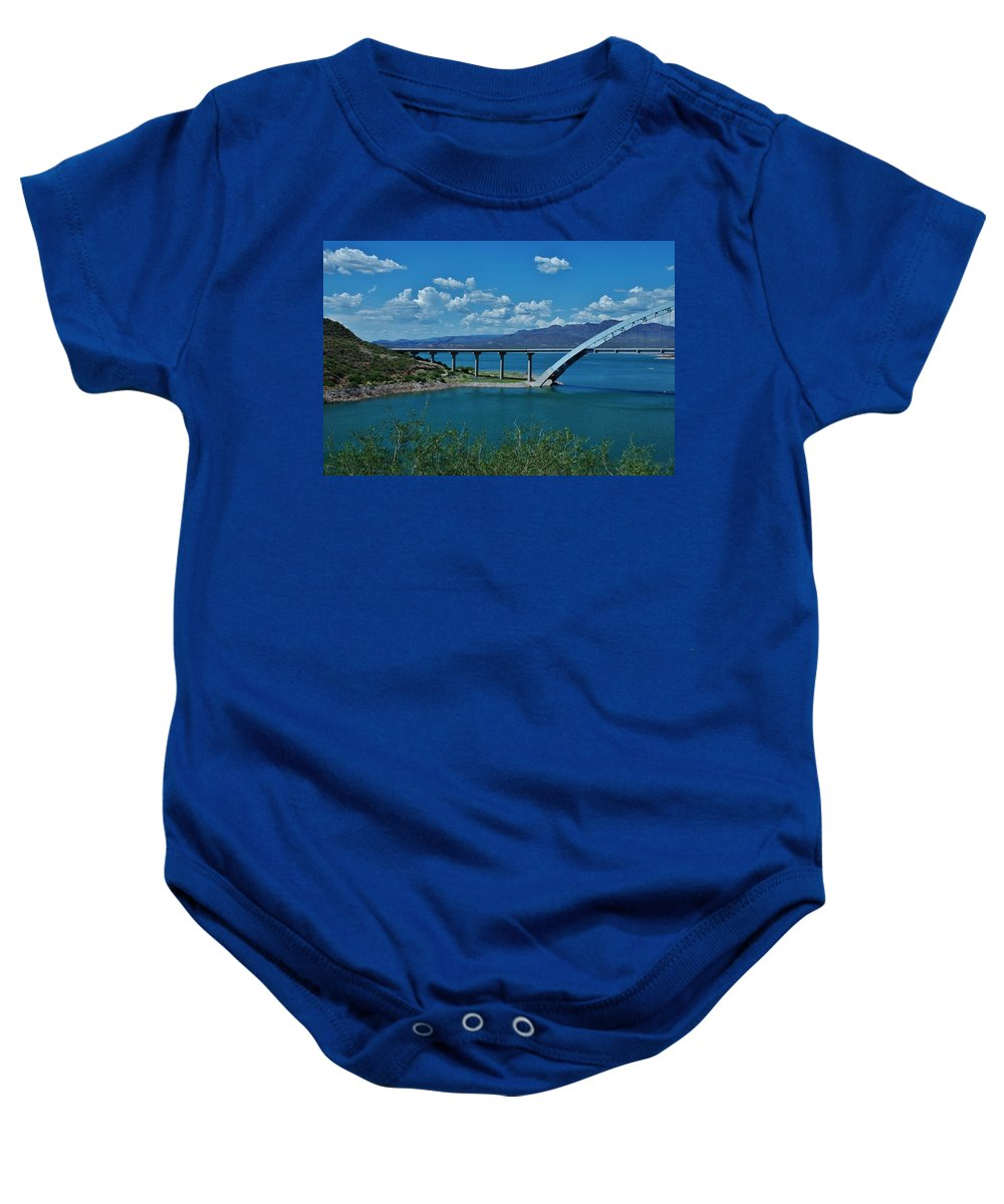 Roosevelt Lake Baby Onesie featuring the photograph Roosevelt Lake 3 - Arizona by Dany Lison