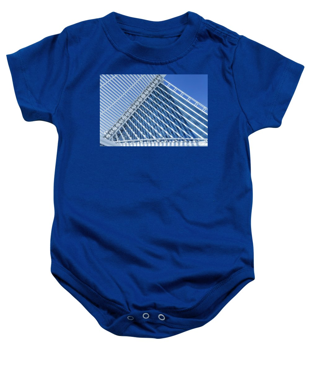 Abstract Baby Onesie featuring the photograph Sail Away by Joan Carroll