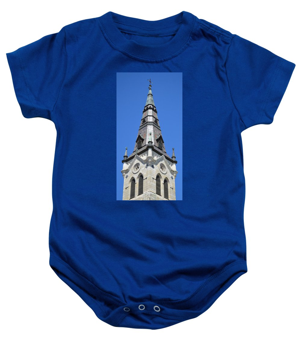 Architecture Baby Onesie featuring the photograph San Antonio Chuch 01 by Shawn Marlow