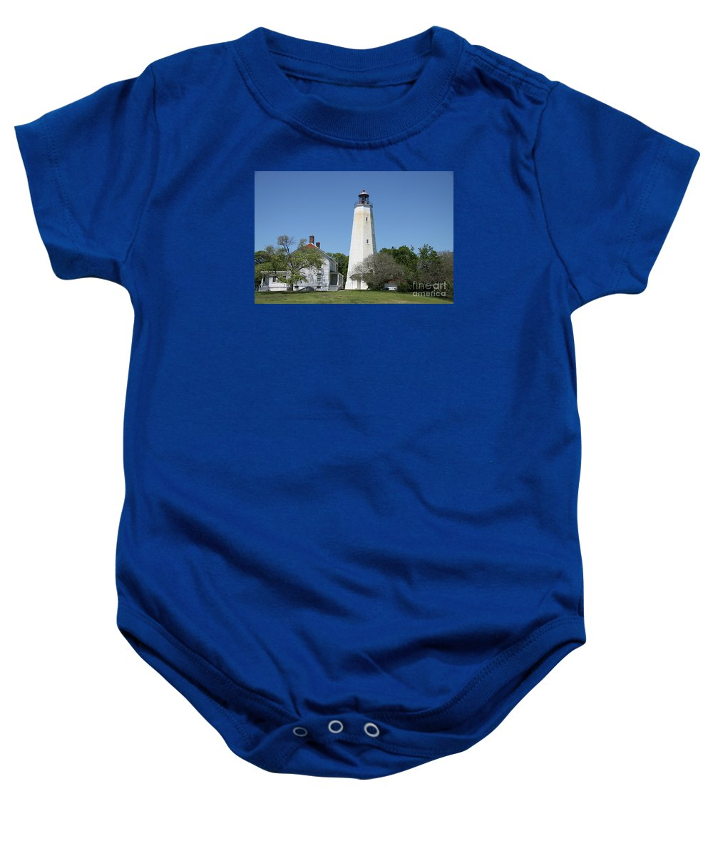 Lighthouse Baby Onesie featuring the photograph Sandy Hook Lighthouse IIi - N J by Christiane Schulze Art And Photography