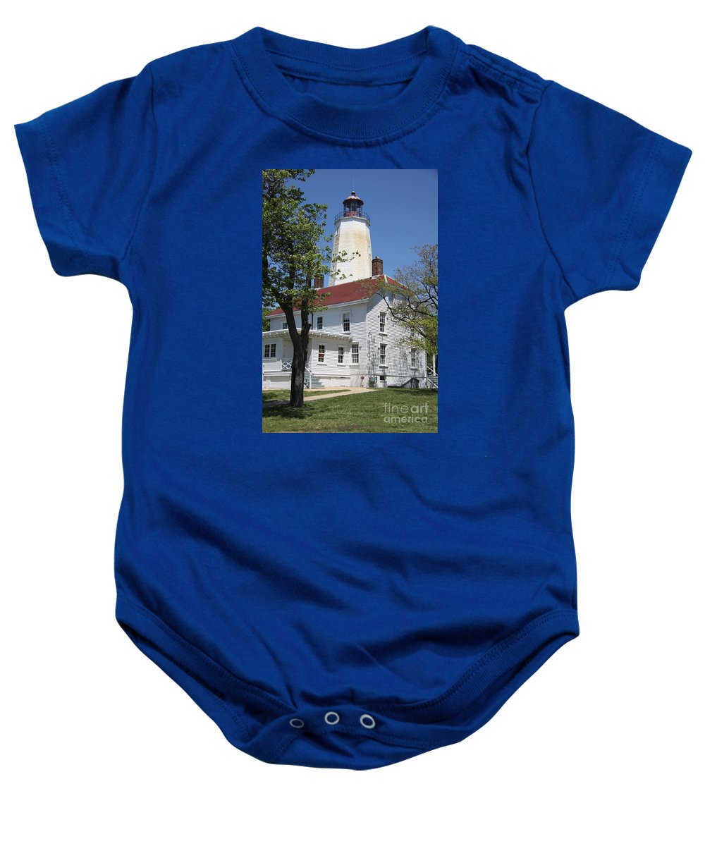 Lighthouse Baby Onesie featuring the photograph Sandy Hook Lighthouse Iv by Christiane Schulze Art And Photography