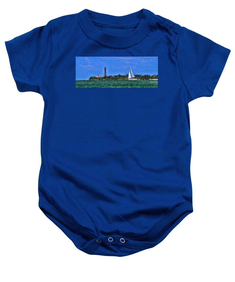 Painting Baby Onesie featuring the photograph Sanibel Lighthouse by Richard Gripp