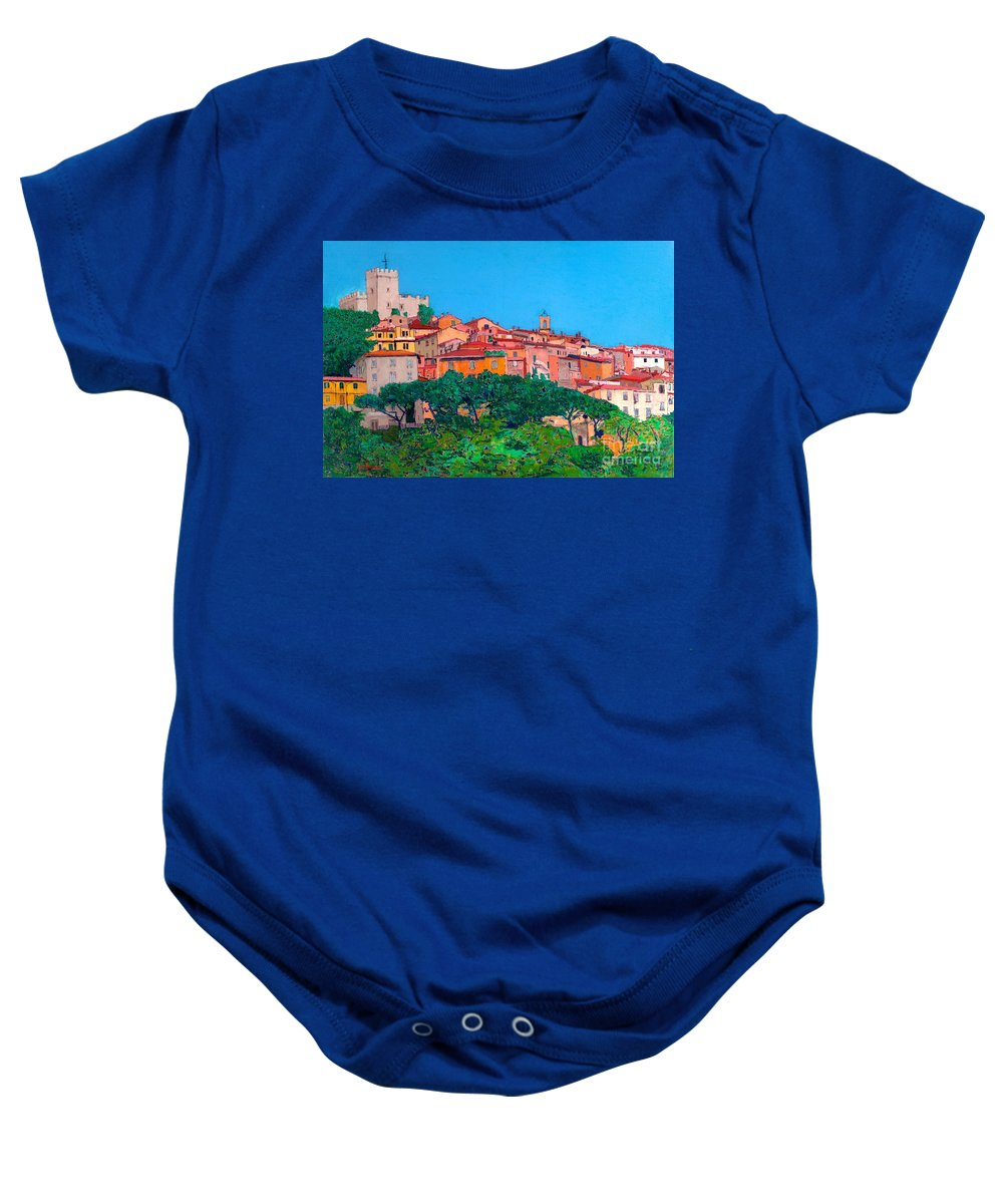 Landscape Baby Onesie featuring the painting Saturina by Allan P Friedlander