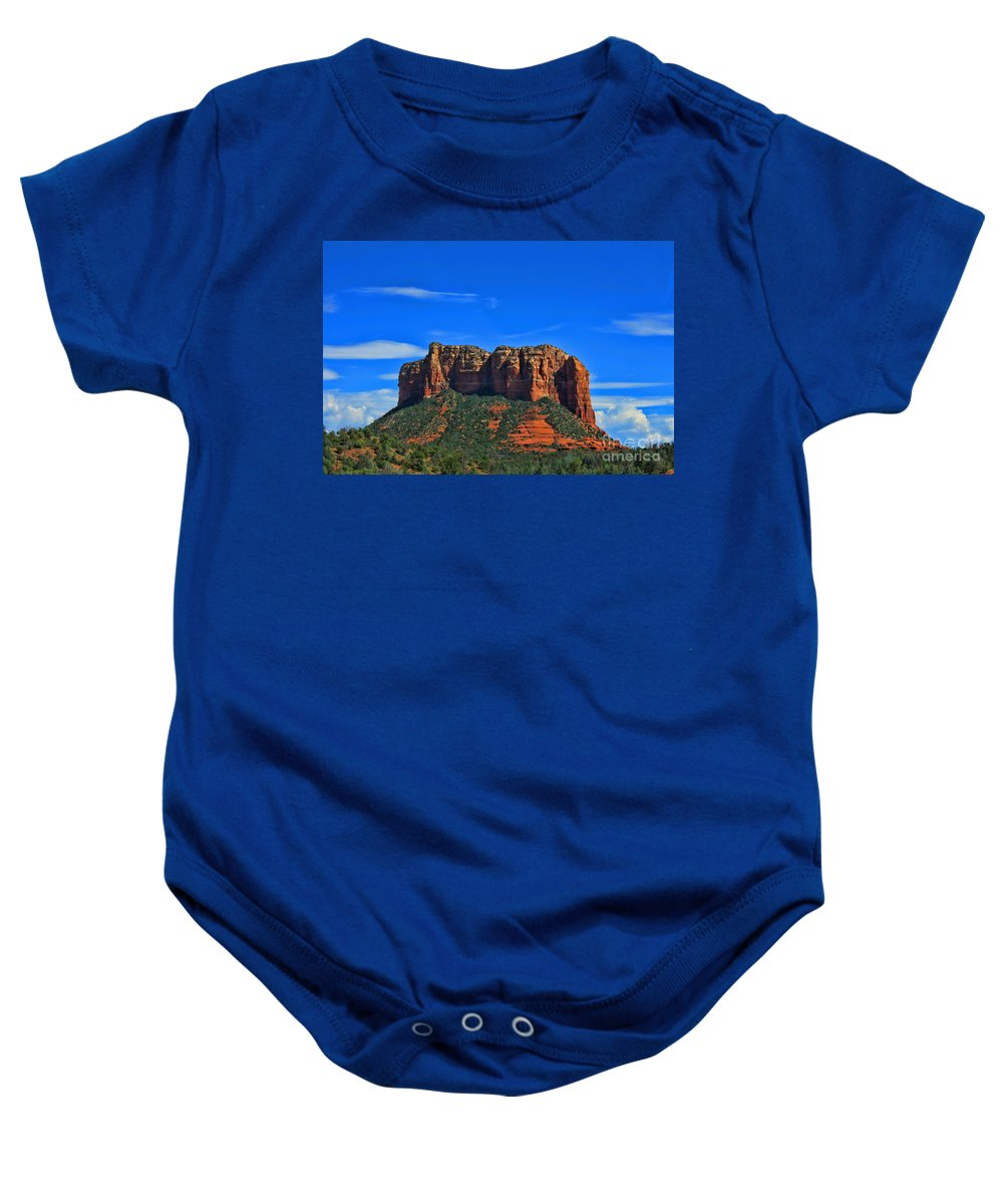 Sedona Baby Onesie featuring the photograph Sedona Az-11 by Tommy Anderson