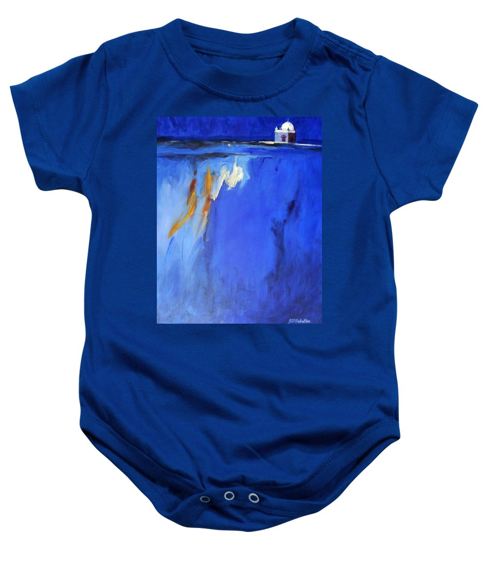 Meher Baba Paintings Baby Onesie featuring the painting Silence Night by Joe DiSabatino