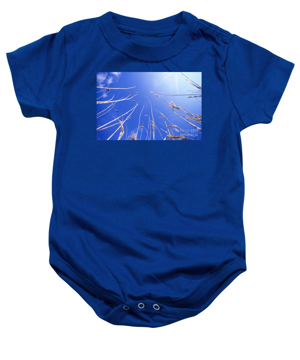 Heiko Baby Onesie featuring the photograph Skyward by Heiko Koehrer-Wagner