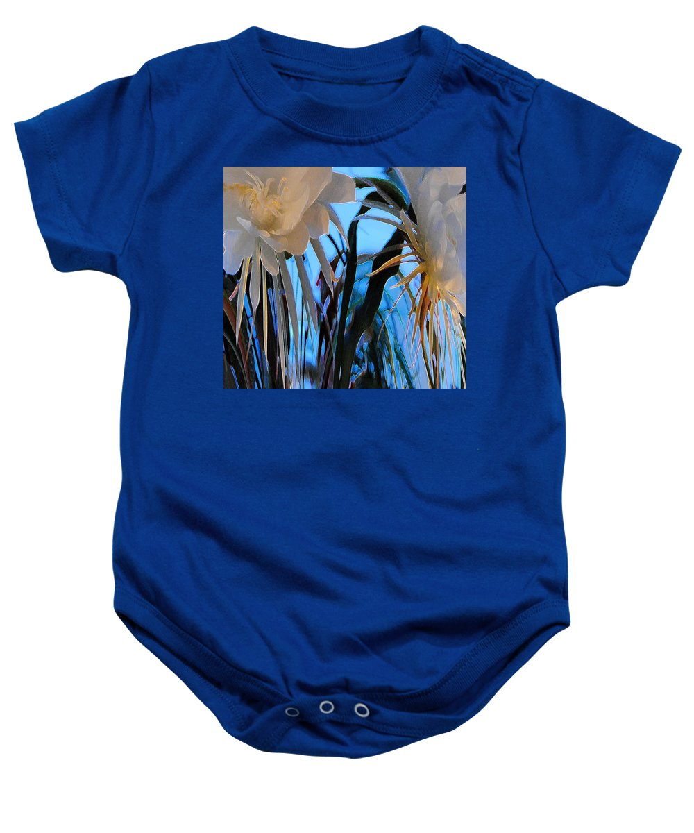 Cereus Flowers Baby Onesie featuring the photograph Some Serious Flowers by Vallee Johnson