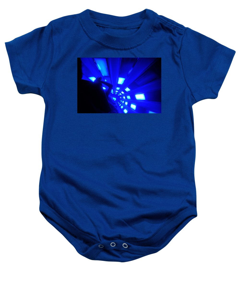 Creative Photography Baby Onesie featuring the photograph Space Mountain Blast Off by David Lee Thompson