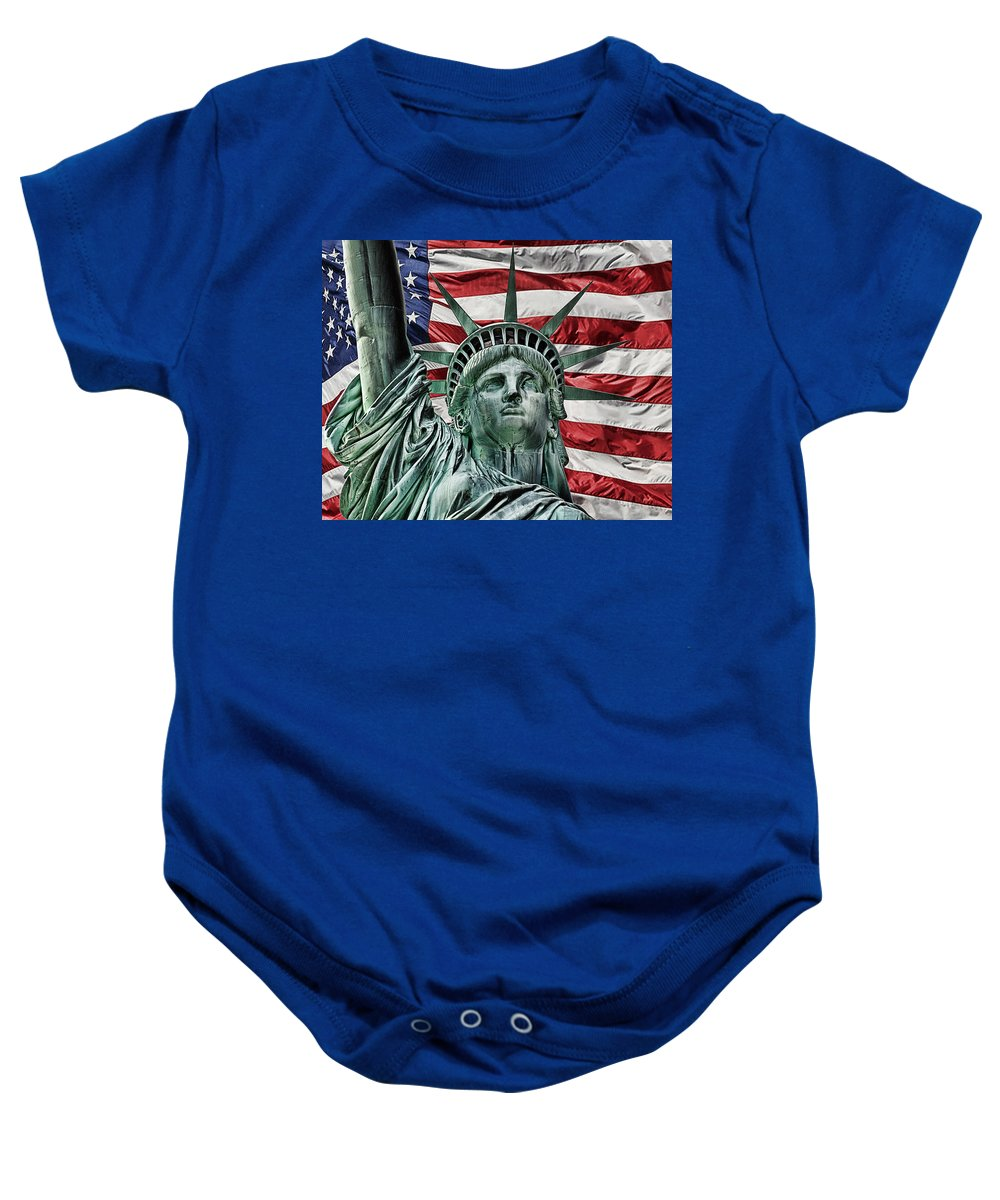 Lady Liberty Baby Onesie featuring the photograph Spirit Of Freedom by Joachim G Pinkawa